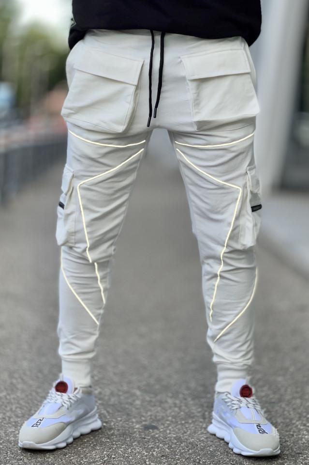 Pantaloni Reflector 5268 Alb