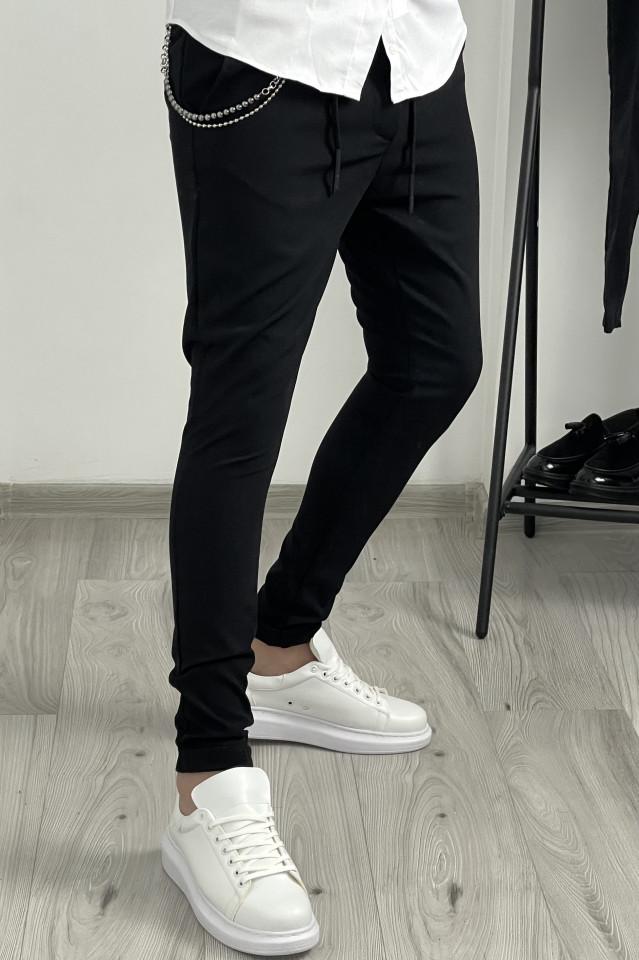 Pantaloni Smart Casual Y424 Negru