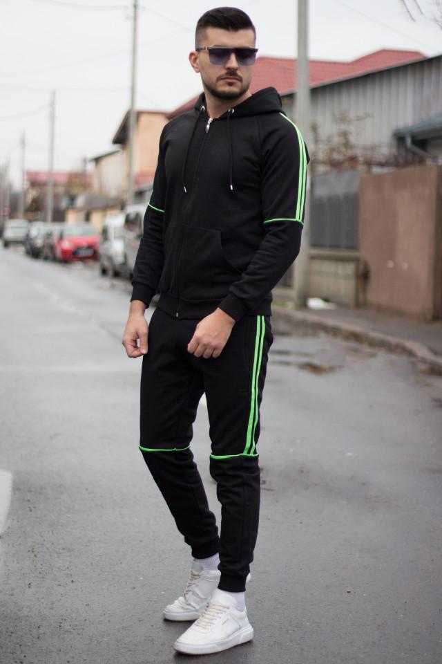 Trening Gros TWO Negru-Neon Verde