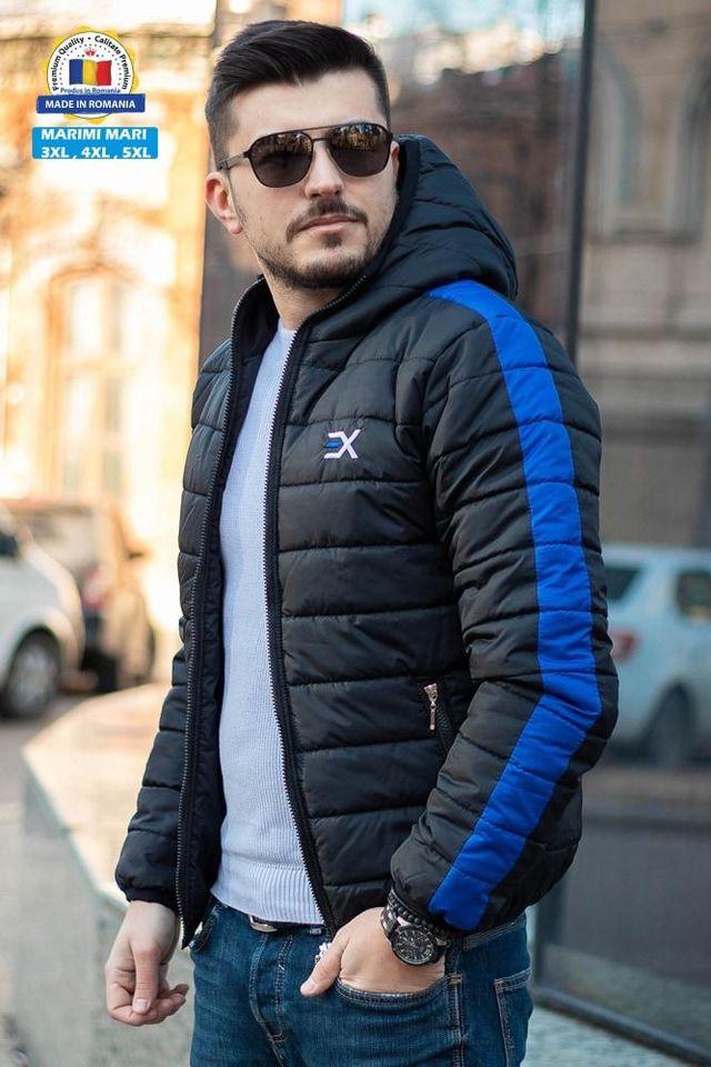 Geaca Exclusive Negru - Albastru