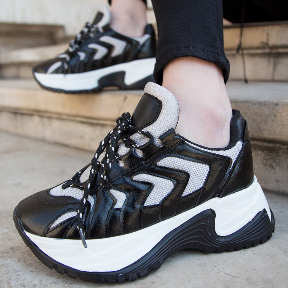 Adidasi MK Negru-Argintiu