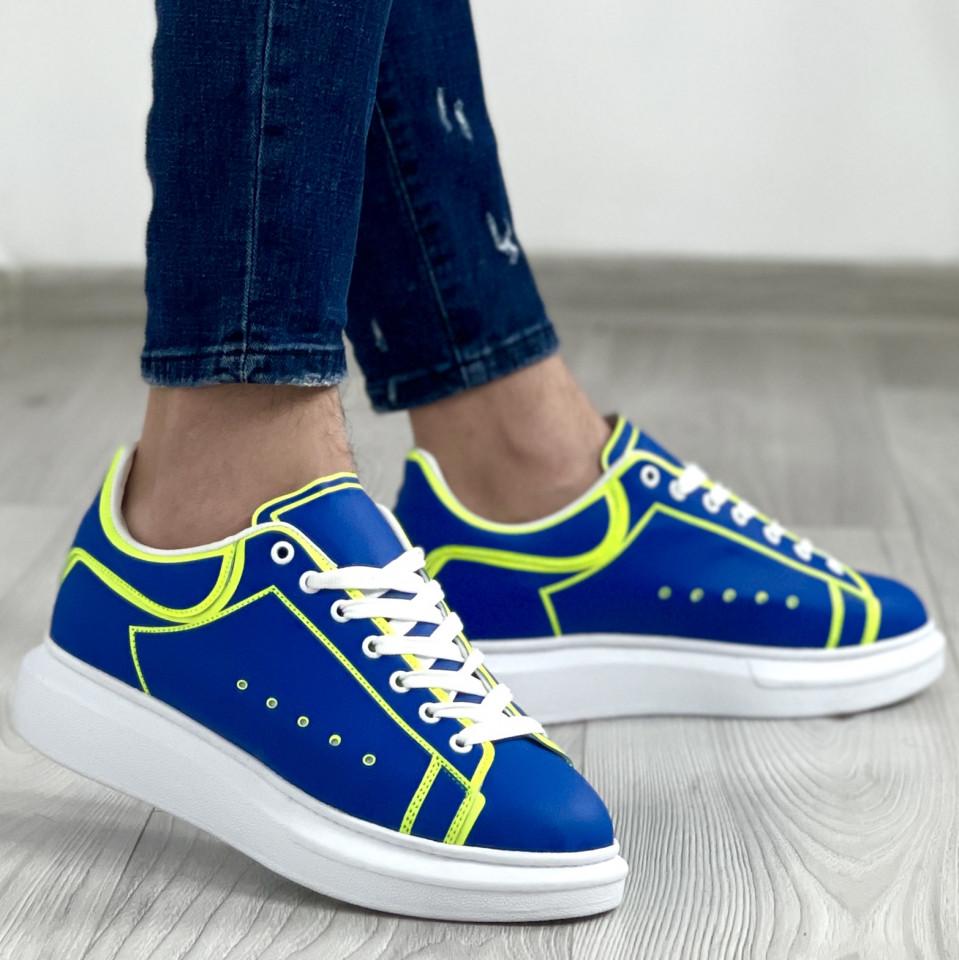 Adidas MQ Striped Albastru-Verde-Alb