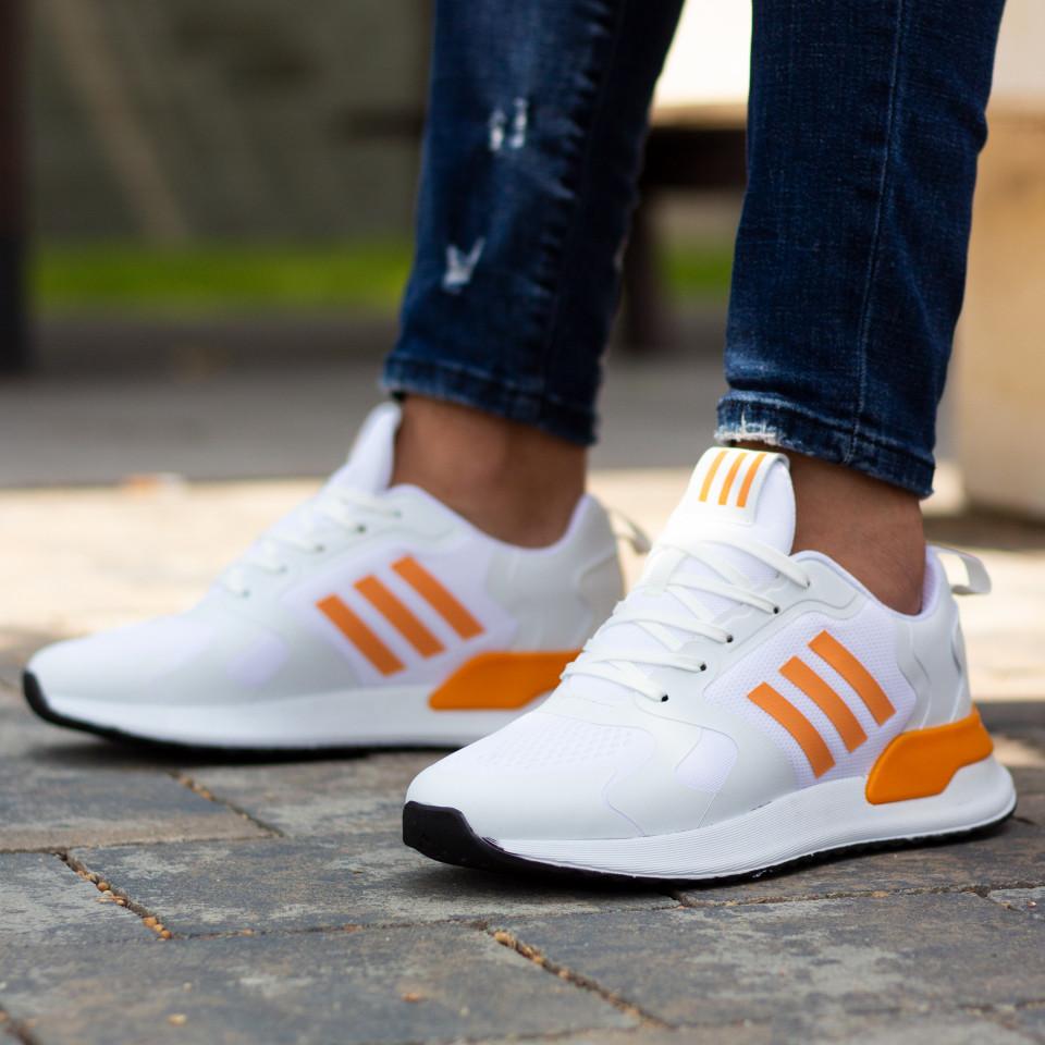 Adidasi 3S Alb Portocaliu