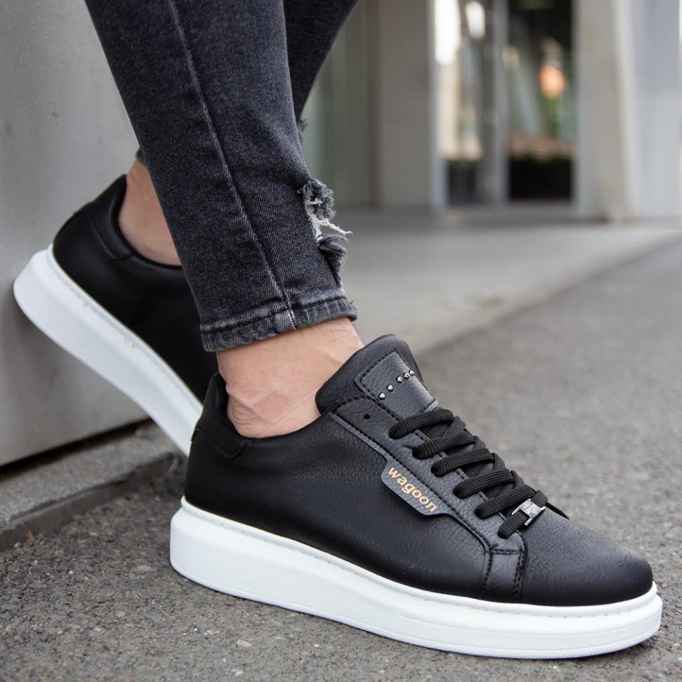 Adidasi Simply Negru-Alb