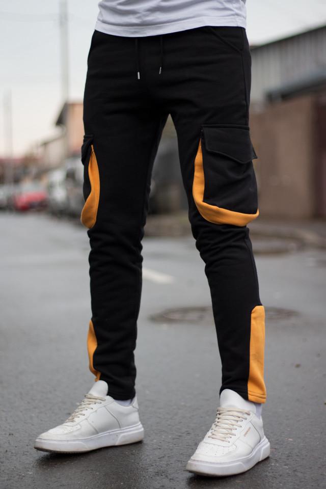 Pantaloni Grosi PKT Negru-Galben