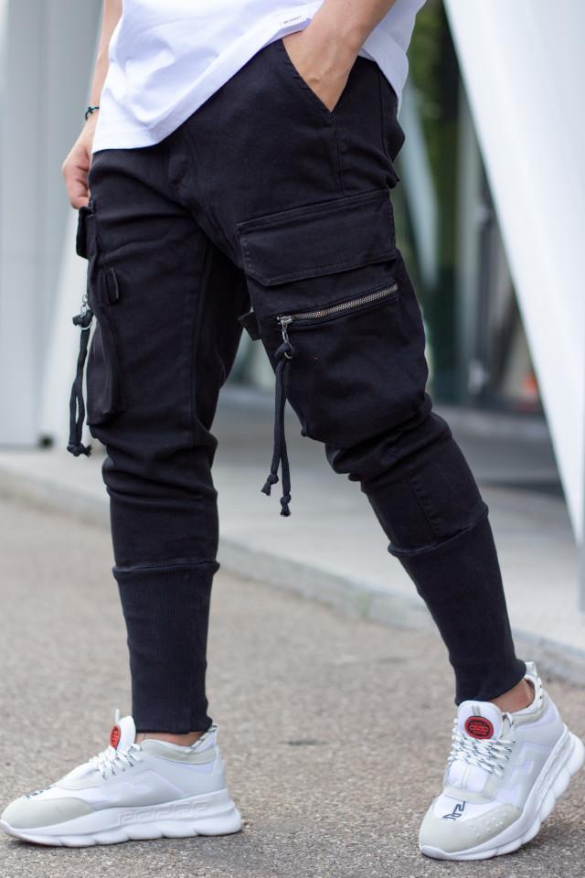 Pantaloni Pocket Rope Negru