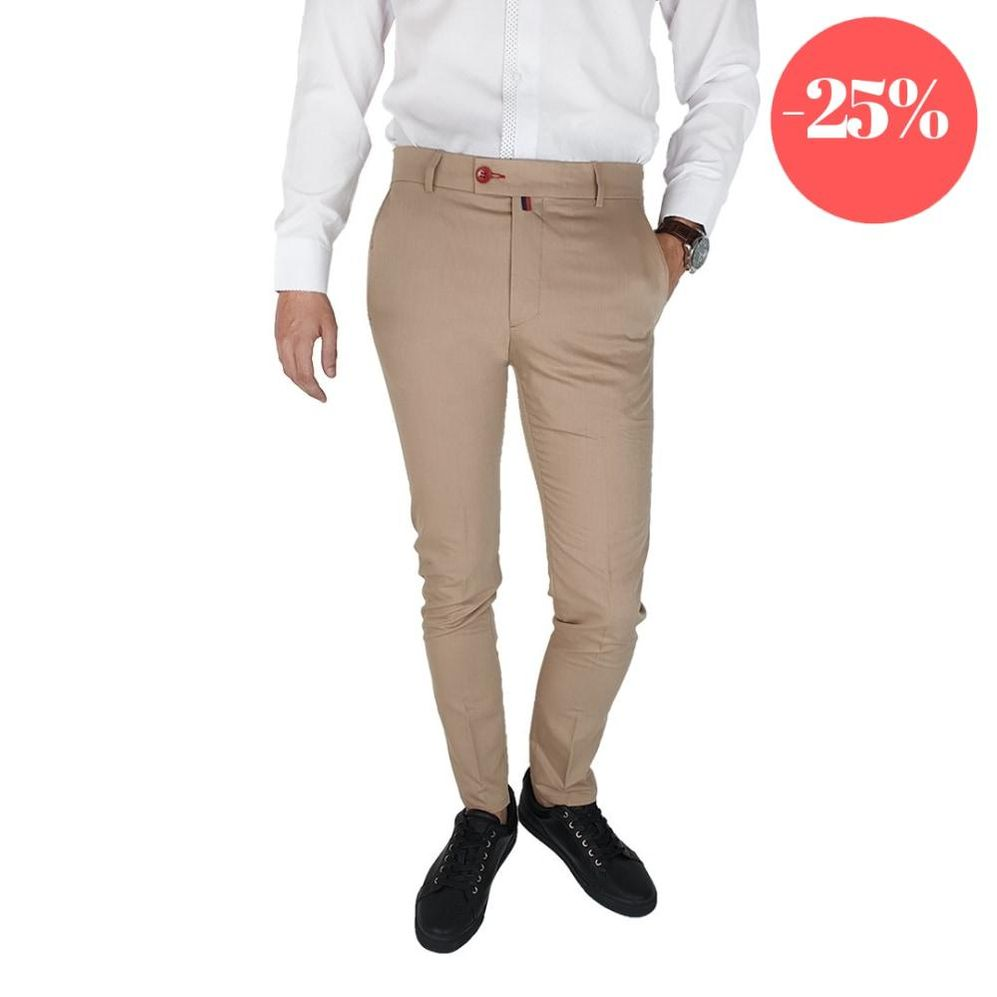 Pantaloni Smart-Casual Slim Crem