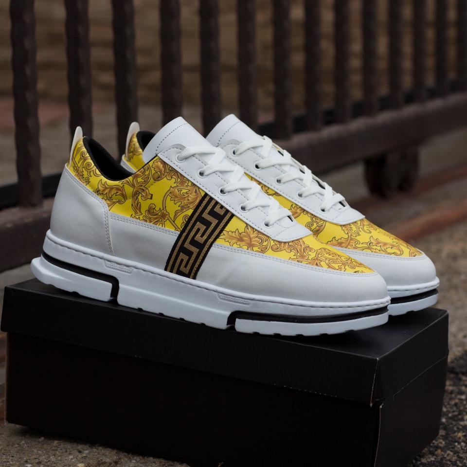 Sneakers High Alb-Auriu