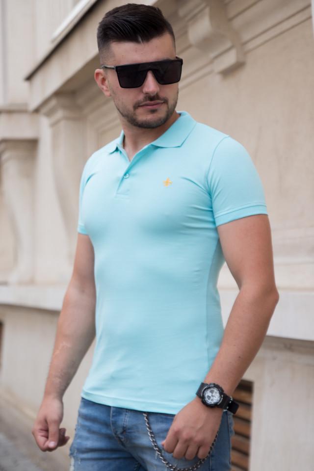 Tricou Polo Aqua