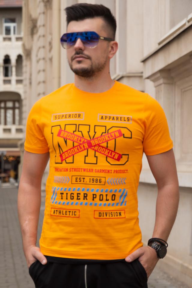 Tricou SlimFIt NYC Galben T012