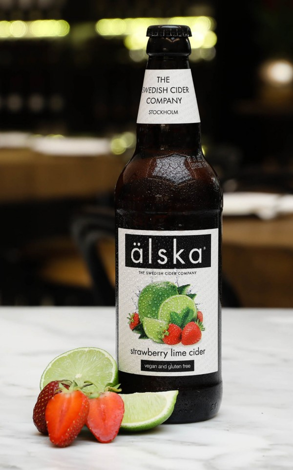 Alska Cider Strawberry & Lime 0.5L 12/bax