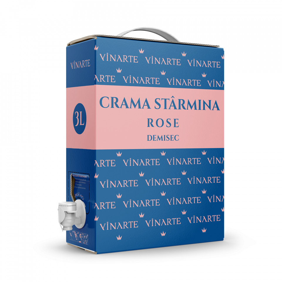 Vinarte Rose Demisec Bag in Box 3L