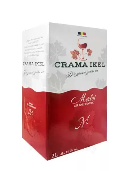 Crama Ikel Vin Merlot Rosu Demisec Bag In Box 2L