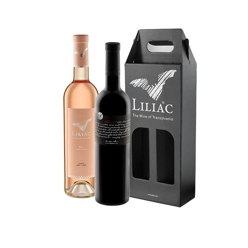 Pachet Liliac Private Selection Merlot + Liliac Rose 0.75L