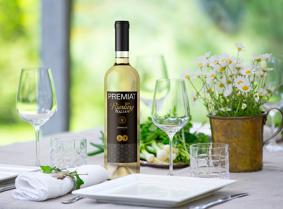 Vincon, Premiat, Riesling Italian, Demisec, 13.5%, 0.75L