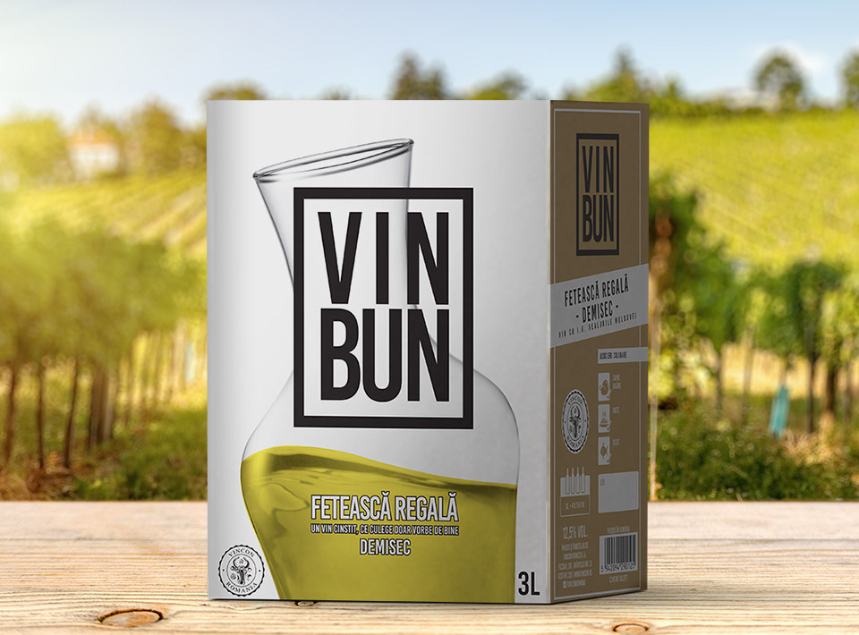 Vincon, Vin Bun, Feteasca Regala, Demisec, 12.5%, Bag in Box 3L