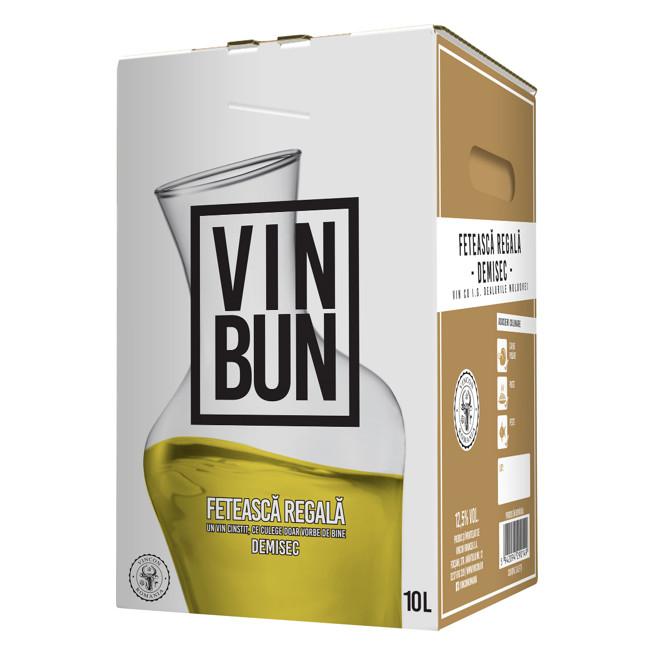 Vincon, Vin Bun, Feteasca Regala, Demisec, 12.5%, Bag in Box 10L