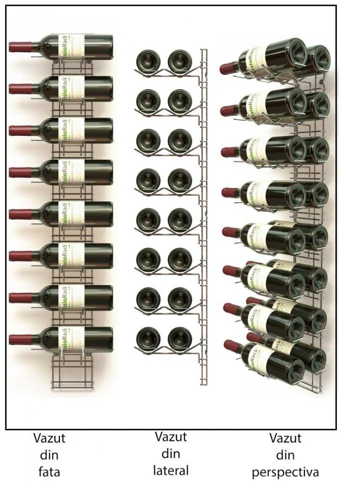 Suport metalic cromat 16 sticle VRM8N2C