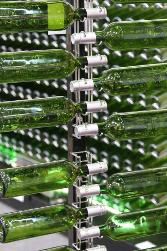 Suport Metalic Cromat Pentru 16 Sticle VRVC16-CR