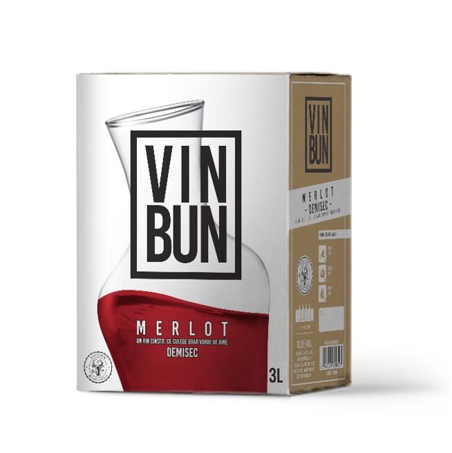 Vincon, Vin Bun, Merlot, Demisec, 13%, Bag in Box 3L