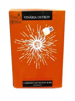 Vinaria Ostrov Cabernet Sauvignon Rose Bag In Box 3l