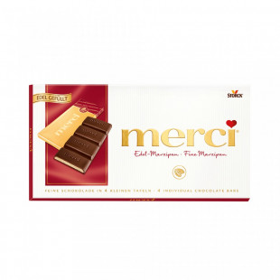 Ciocolata Merci tableta marzipan 112g