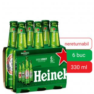 Heineken, Sticla 0.33L, Bax, 6 buc