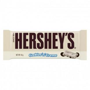 Hershey's Ciocolata alba cu cookies 43g