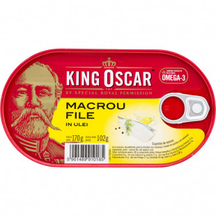 King Oscar Macrou File in Ulei 170g