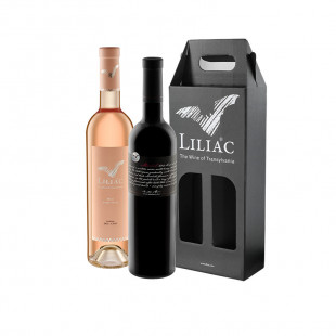 Pachet Liliac Private Selection Merlot + Liliac Rose 0.75L