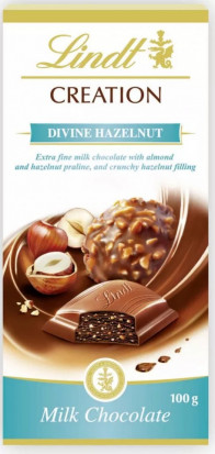 Lindt Ciocolata Creation Divine Hazelnut 100g