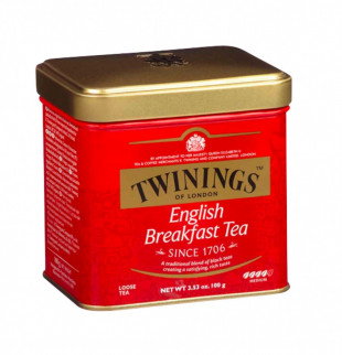 Twinings Ceai Negru English Breakfast Cutie Metal 100g