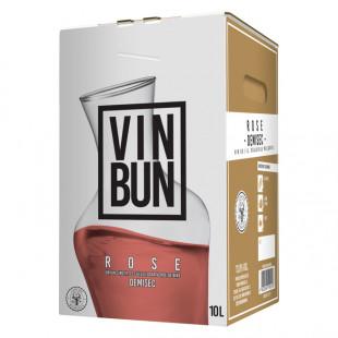 Vincon, Vin Bun,Rose, Demisec, 12.5%, Bag in Box 10L
