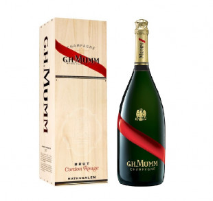 Mumm Cordon Rouge Brut Mathusalem Wooden Case 6L