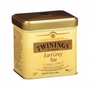 Twinings Ceai Negru Earl Grey Cutie Metal 100g