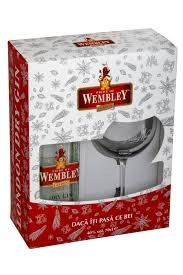 Wembley London Dry Gin 0.7L + Pahar
