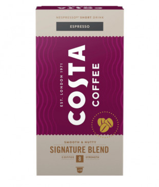 Capsule cafea, Costa Signature Blend Espresso, compatibil Nespresso, 10 capsule, 57g