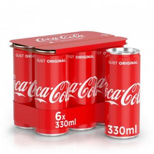 Coca-Cola, Doza 0.33L, Pack 6 buc