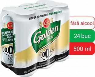 Golden Brau 0.0%, doza 0.5L, Bax, 24 buc