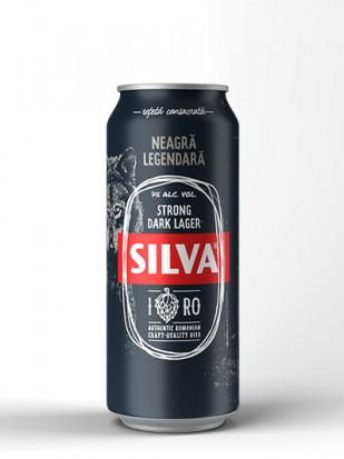 Silva Strong Dark Lager, doza 0.5L, Bax, 24 buc