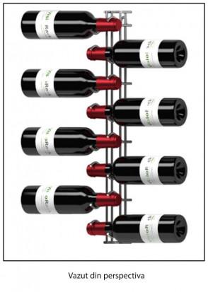 Suport Metalic Cromat Pentru 8 Sticle VRVC08-NM