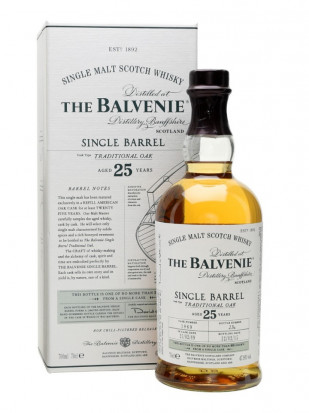The Balvenie 25 Year Old Single Barrel Traditional Oak 0.75L