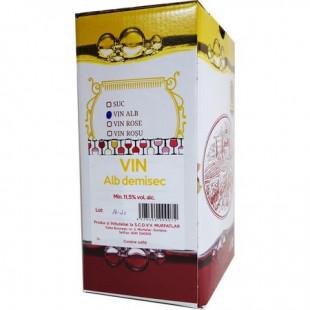 Crama Statiunea Murfatlar Vin Alb Demisec Bag In Box 3L