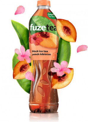 Fuzetea Black Ice Tea Peach Hibiscus 1.5 l