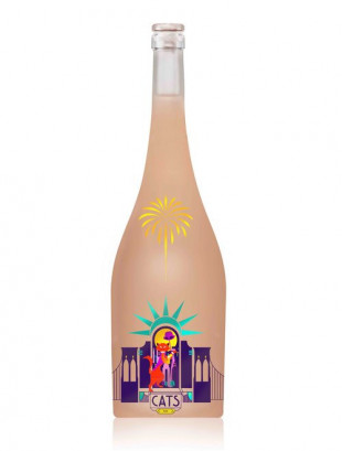 Sarica Niculitel Cats Feteasca Neagra, Pinot Noir, Syrah Rose Magnum 1.5L