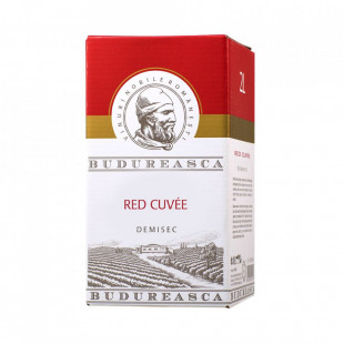 Budureasca Red Cuvee Demisec Bag in Box 2L