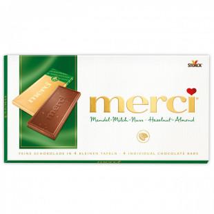 Ciocolata Merci tableta alune, migdale 100g