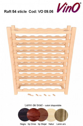Raft VinO din lemn 9x6 - 54 sticle