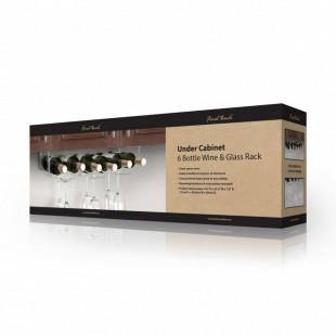 Suport inox pentru sticle si pahare de vin FTR 006