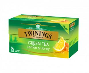 Twinings Ceai Verde Cu Aroma De Lamaie & Miere 25 x 1,6g